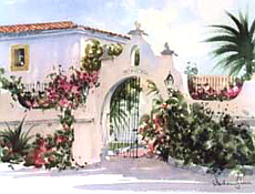 Logo painting of the Villa in Andalusia on the Costa del Sol