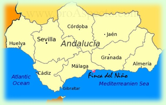 Holiday Map Of Spain.In The South Of Spain A Special Place To Stay For Your Holidays In