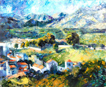 Painting from Diana Golladge Landscape in Axarquia