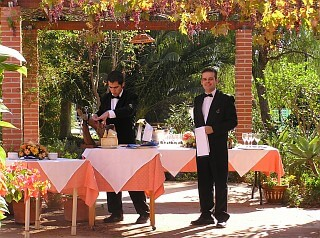 Wedding ceremony under the sun of Spain in Andalusia on the Finca del Niño