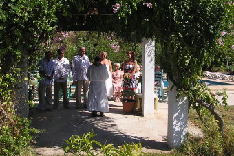 Marriage at the Costa del Sol in open air ceremony